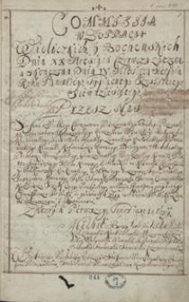 [Akta komisji do skontrolowania żup wielickich i bocheńskich z 1670 i 1710 r.]