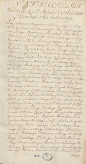 Senatus consilium Varsaviae a die 25 ad diem 30 mensis Octobris a.d. 1762 celebratum