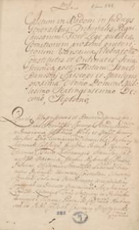 [Uchwały sądu głównego Trybunału Skarbowego Radomskiego z lat 1717-1727]
