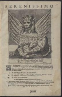 Ut esset perpetuum Stanislai Nyegossewii [...] in nomen Venetum Pietatis argumentum, tum vero cum Aldo Mannuccio dignum mutuae caritatis pignus [...]