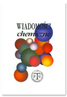 Wiadomości Chemiczne, Vol. 64, 2010, nr 9-10 (759-760)