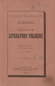 Dzieje literatury polskiej