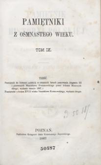 Pamiętnik do historyi polskiéj w ostatnich latach panowania Augusta III i pierwszych Stanisława Poniatowskiego. - Wyd. 3