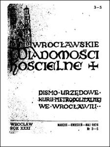 Wrocławskie Wiadomości Kościelne. R. 31 (1976), nr 3/5