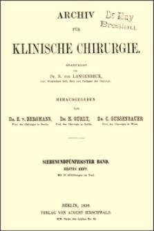 Beiträge zur Technik der Operation des Magencarcinoms, Archiv für Klinische Chirurgie, 1898, Bd. 57, S. 524-532