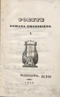 Poezye Romana Zmorskiego. I
