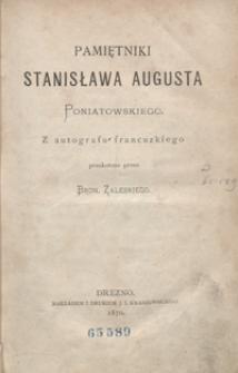 Pamiętniki Stanisława Augusta Poniatowskiego