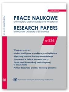 Spis treści [Prace Naukowe Uniwersytetu Ekonomicznego we Wrocławiu = Research Papers of Wrocław University of Economics; 2018; Nr 526]