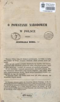 O powstaniu narodowém w Polsce