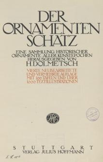 Der Ornamentenschatz : eine Sammlung historischer Ornamente aller Kunstepochen
