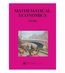 Contens [Mathematical Economics, 2017, Nr 13 (20)]