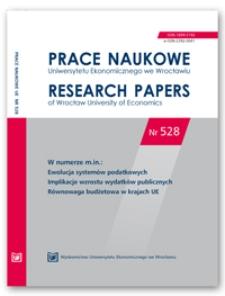 Spis treści [Prace Naukowe Uniwersytetu Ekonomicznego we Wrocławiu = Research Papers of Wrocław University of Economics; 2018; Nr 528]