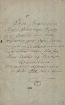 [Akta rewizji Skarbca Koronnego z 1662 roku]