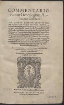 Commentariorum in Genealogiam Austriacam libri duo [...]