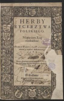 Herby Rycerstwa Polskiego na Pięcioro Xiąg rozdzielone