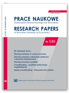 Sharing economy vs. access economy – wybrane aspekty terminologiczne i metodologiczne