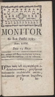 Monitor. R.1783 Nr 39