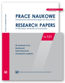 Prace Naukowe Uniwersytetu Ekonomicznego we Wrocławiu = Research Papers of Wrocław University of Economics; 2018; Nr 531 - Spis treści