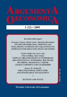 Income distribution, growth and well-being : evidence of a quantitative approach for selected OECD countries
