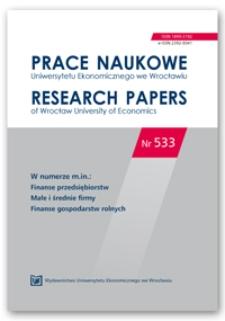 Spis treści [Prace Naukowe Uniwersytetu Ekonomicznego we Wrocławiu = Research Papers of Wrocław University of Economics; 2018; Nr 533]