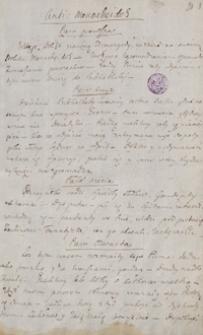 Anti-Monacheidos, Zygmunt August [fragmenty dramatu oraz satyry i tłumaczenia pieśni Osjana J. Macphersona]