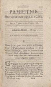 Pamiętnik Historyczno-Polityczny Przypadków, Ustaw, Osób, Miejsc i Pism wiek nasz szczególnie interesujących. R.1784 T.4 (Grudzień)