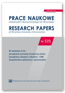 Spis treści [Prace Naukowe Uniwersytetu Ekonomicznego we Wrocławiu = Research Papers of Wrocław University of Economics; 2018; Nr 535]