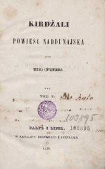 Kirdżali : powieść naddunajska. Tom I