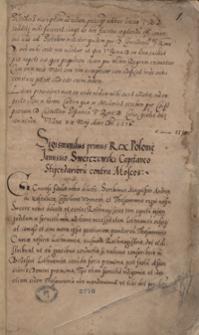 [Acta Tomiciana. Tom III obejmujący odpisy akt politycznych, listów, wierszy dot. dziejów Polski za panowania Zygmunta I Starego z lat 1514-1515]