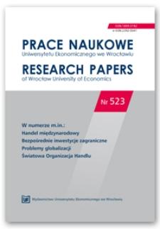 Spis treści [Prace Naukowe Uniwersytetu Ekonomicznego we Wrocławiu = Research Papers of Wrocław University of Economics; 2018; Nr 523]