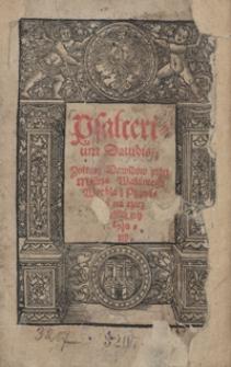 Psalterium Davidis : Zołtarz Dawidów przez Mistrza Walantego Wrobla z Poznania na rzecz polską wyłożony