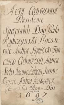 [Akta radzieckie miasta Grodziska 1692-1741]