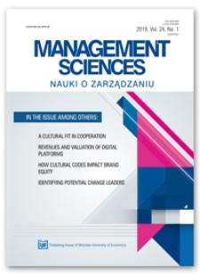 Spis treści [Management Sciences = Nauki o Zarządzaniu, 2019, vol. 24, no. 1]