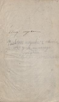 Niektóre urywki z rewolucyi roku 1830 przez naocznego świadka