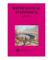 Contens [Mathematical Economics, 2014, Nr 10 (17)]