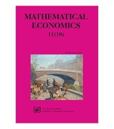 Contens [Mathematical Economics, 2015, Nr 11 (18)]