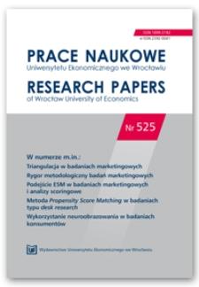 Spis treści [Prace Naukowe Uniwersytetu Ekonomicznego we Wrocławiu = Research Papers of Wrocław University of Economics; 2018; Nr 525]
