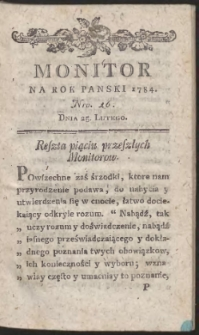 Monitor. R.1784 Nr 16