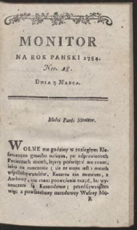 Monitor. R.1784 Nr 18