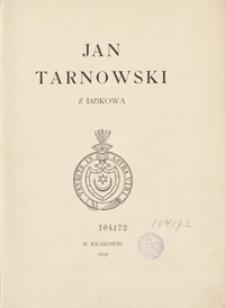 Jan Tarnowski z Dzikowa