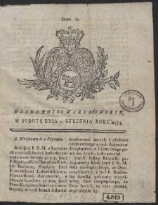 Gazeta Warszawska. R.1774 Nr 1
