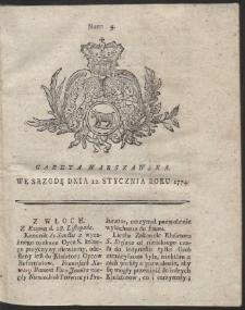 Gazeta Warszawska. R.1774 Nr 4