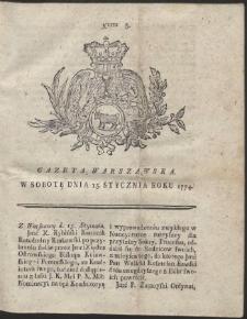 Gazeta Warszawska. R.1774 Nr 5