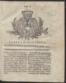 Gazeta Warszawska. R.1774 Nr 9
