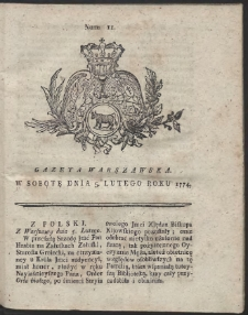 Gazeta Warszawska. R.1774 Nr 11