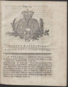 Gazeta Warszawska. R.1774 Nr 13