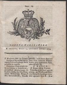 Gazeta Warszawska. R.1774 Nr 15