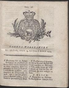 Gazeta Warszawska. R.1774 Nr 16