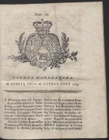 Gazeta Warszawska. R.1774 Nr 17