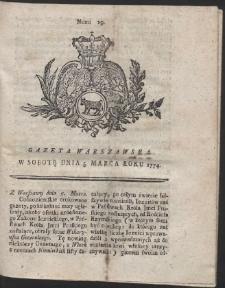Gazeta Warszawska. R.1774 Nr 19